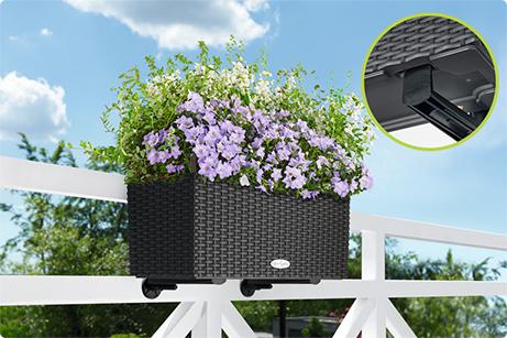 Les accroches-balconnières sont invisibles de face