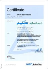 certification politique PLAYMOBIL/LECHUZA de protection de l'environnement